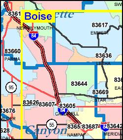 Boise Id Zip Code Map | Zip Code MAP