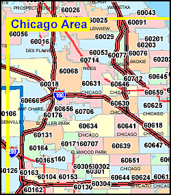 Illinois ZIP Code Map