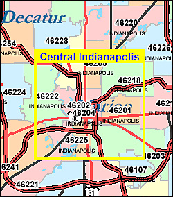 Indiana ZIP Code Map