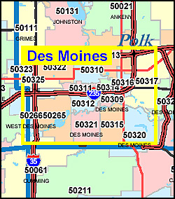 Iowa ZIP Code Map