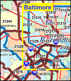 Alfa Img  Showing Gt Baltimore Co Zip Code Map