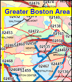 Massachusetts ZIP Code Map