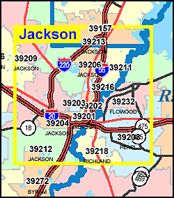 Mississippi ZIP Code Map Including County Maps