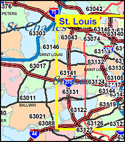 Missouri ZIP Code Map