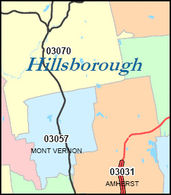 New Hampshire ZIP Code Map Including County Maps