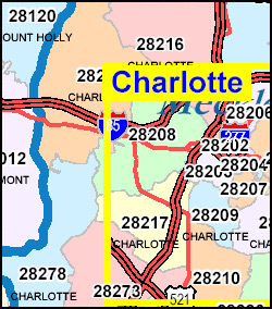 North Carolina ZIP Code Map