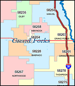 north dakota zip code map bnhspinecom