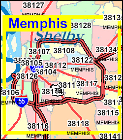 Tennessee ZIP Code Map Including County Maps