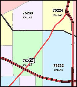 Texas ZIP Code Map