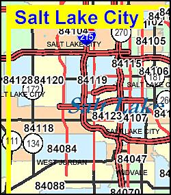 Utah ZIP Code Map Including County Maps