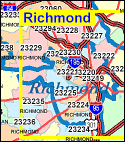 Zip Code Map Of Virginia.Richmond Va Zip Code Map Sustrainability