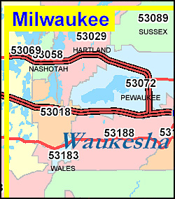 Wisconsin ZIP Code Map