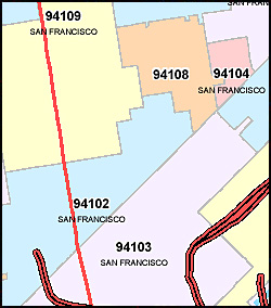 California map of zip codes 53 vector with california map of zip codes