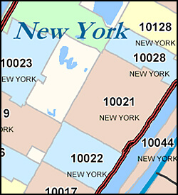 Sample 5-Digit Digital ZIP Code Map