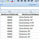 New Medicare CBSA Data in ZIP Code Database